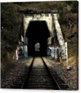 Train Tunnel At The Muir Trestle In Martinez California . 7d10220 Canvas Print