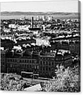View Of Edinburgh New Town Skyline Towards The Docks At Leith And Firth Of Forth From Calton Hill Ed Canvas Print