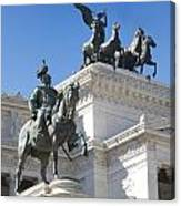 Vittoriano. Monument To Victor Emmanuel II. Rome Canvas Print