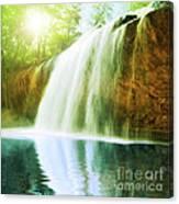 Waterfall Pool Canvas Print