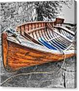 Wood Boat Canvas Print
