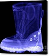 X-ray Of A Childs Light-up Boot Canvas Print