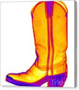 X-ray Of A Cowboy Boot Canvas Print