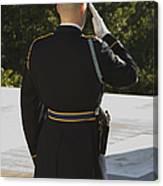 Honor Guard At The Tomb Canvas Print