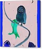 2008 Owl Negative Canvas Print