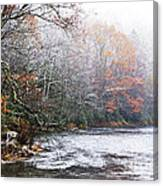Autumn Snow Monongahela National Forest Canvas Print