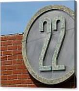 22 Sign Canvas Print