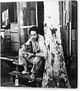 Silent Still: Single Man Canvas Print