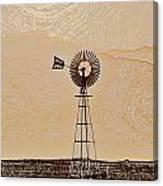 Water Pump Windmill Canvas Print