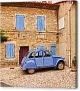 2cv Dans Le Bleu Francais St Remy De Provence Canvas Print