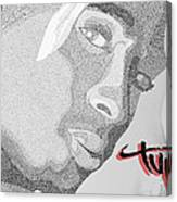 2pac Text Picture Canvas Print