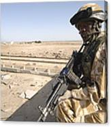A British Army Soldier Provides Canvas Print
