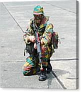 A Paratrooper Of The Belgian Army Canvas Print