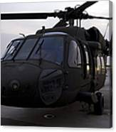 A Uh-60 Black Hawk Helicopter Canvas Print