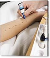 Allergy Test Canvas Print
