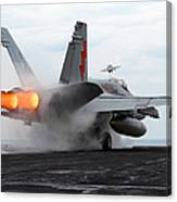 An Fa-18c Hornet Launches Canvas Print