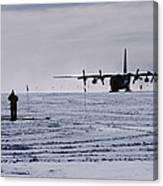 Antarctic Airfield Canvas Print