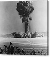 Atomic Bomb Explosion Canvas Print