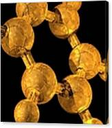 Benzene, Molecular Model Canvas Print
