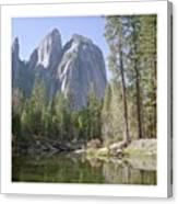 3 Brothers. Yosemite Canvas Print
