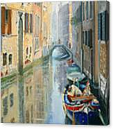 Canals Of Venice  Canvas Print