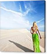 Desert Woman Canvas Print