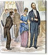 Election Cartoon, 1877 Canvas Print