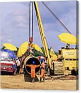 Gas Line Construction Canvas Print