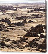 Giant Sandstone Outcroppings Deep Canvas Print