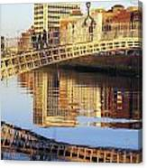 Hapenny Bridge, River Liffey, Dublin Canvas Print