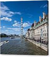 London Eye And County Hall Canvas Print