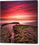 Long Exposure Sunset At A North San Canvas Print