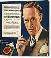 Lucky Strike Cigarette Ad Canvas Print