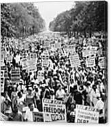 March On Washington. 1963 Canvas Print