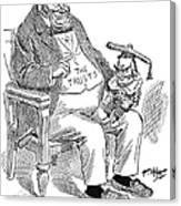 Mckinley Cartoon, 1900 Canvas Print