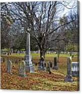 Pleasant Forest Cemetery Canvas Print