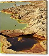Potassium Salt Deposits, Dallol Canvas Print