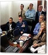 President Barack Obama And Vice Canvas Print