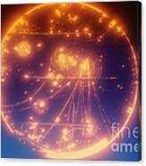 Proton-photon Collision Canvas Print