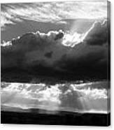 Rain Sun Rays Canvas Print