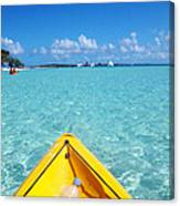 Relaxing At Coco Cay In The Bahamas Canvas Print