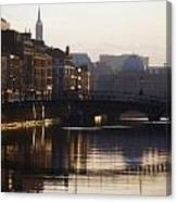 River Liffey, Dublin, Co Dublin, Ireland Canvas Print