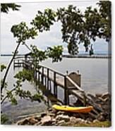 River Walk On The Indian River Lagoon Canvas Print