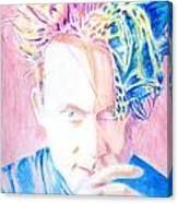 Robert In Pink And Blue Canvas Print