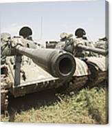 Russian T-54 And T-55 Main Battle Tanks Canvas Print