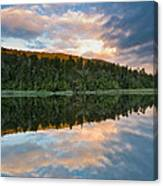 Sunrise Above A Lake On A Wind Still Morning Canvas Print