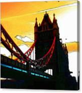 Sunset At Tower Brigde Canvas Print