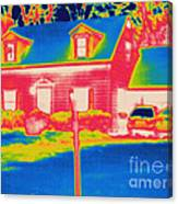 Thermogram Of A House Canvas Print