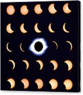 Timelapse Image Of A Total Solar Eclipse Canvas Print