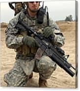U.s. Army Sergeant Provides Security Canvas Print